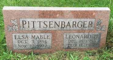 PITTSENBARGER, LEONARD HESS - Gentry County, Missouri   LEONARD HESS PITTSENBARGER - Missouri Gravestone Photos