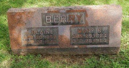 BERRY, J BLAINE - Greene County, Missouri | J BLAINE BERRY - Missouri Gravestone Photos