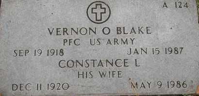 BLAKE, CONSTANCE L - Greene County, Missouri | CONSTANCE L BLAKE - Missouri Gravestone Photos