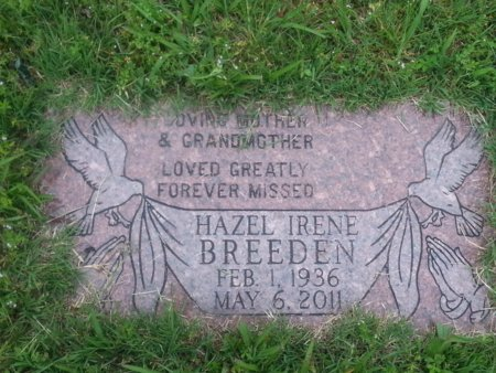 SMITH BREEDEN, HAZEL IRENE - Greene County, Missouri | HAZEL IRENE SMITH BREEDEN - Missouri Gravestone Photos