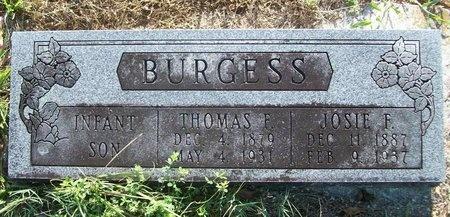 BURGESS, SHERMAN - Greene County, Missouri | SHERMAN BURGESS - Missouri Gravestone Photos