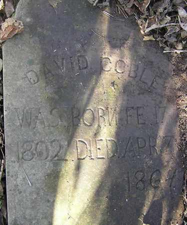 COBLE, DAVID (CLOSEUP) - Greene County, Missouri   DAVID (CLOSEUP) COBLE - Missouri Gravestone Photos