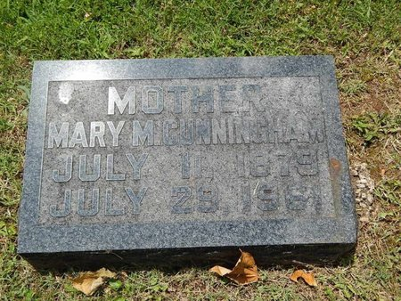 CUNNINGHAM, MARY M - Greene County, Missouri   MARY M CUNNINGHAM - Missouri Gravestone Photos