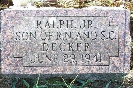 DECKER, RALPH JR. - Greene County, Missouri | RALPH JR. DECKER - Missouri Gravestone Photos