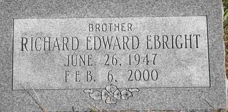 EBRIGHT, RICHARD EDWARD - Greene County, Missouri | RICHARD EDWARD EBRIGHT - Missouri Gravestone Photos