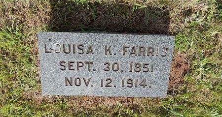 FARRIS, LOUISA K - Greene County, Missouri   LOUISA K FARRIS - Missouri Gravestone Photos