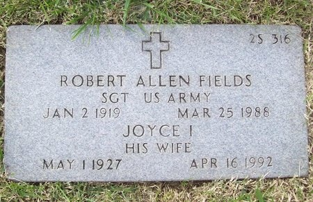 FIELDS, ROBERT ALLEN (VETERAN WWII) - Greene County, Missouri | ROBERT ALLEN (VETERAN WWII) FIELDS - Missouri Gravestone Photos
