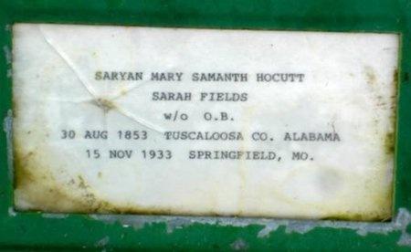 FIELDS, SARAH ANN MARY SAMANTHA - Greene County, Missouri | SARAH ANN MARY SAMANTHA FIELDS - Missouri Gravestone Photos