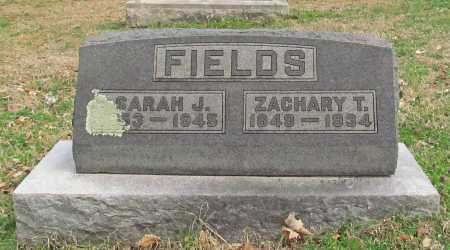 FIELDS, ZACHARY T - Greene County, Missouri | ZACHARY T FIELDS - Missouri Gravestone Photos