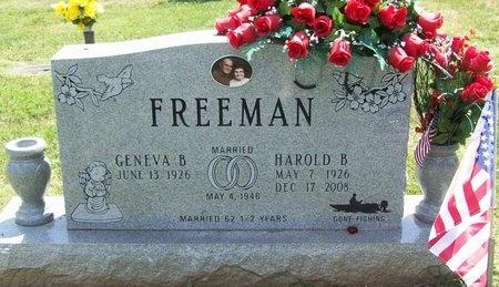 FREEMAN, HAROLD B. - Greene County, Missouri   HAROLD B. FREEMAN - Missouri Gravestone Photos