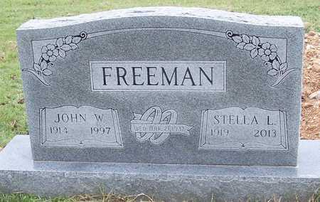 FREEMAN, JOHN W. - Greene County, Missouri | JOHN W. FREEMAN - Missouri Gravestone Photos