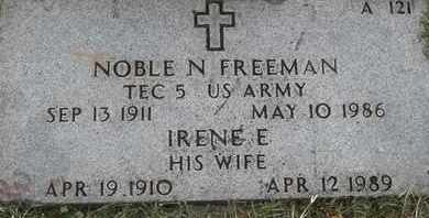 FREEMAN, IRENE E - Greene County, Missouri | IRENE E FREEMAN - Missouri Gravestone Photos