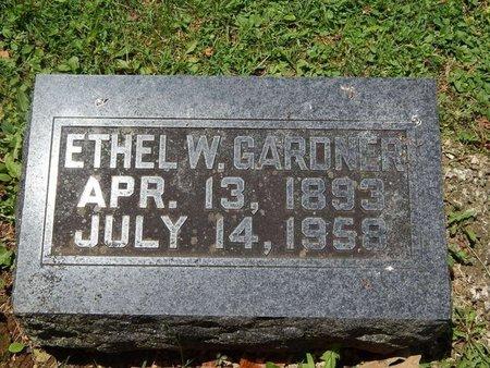 GARDNER, ETHEL W - Greene County, Missouri | ETHEL W GARDNER - Missouri Gravestone Photos