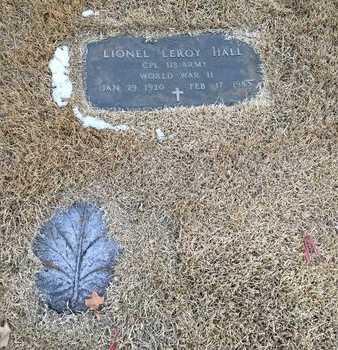 HALL, LIONEL LEROY - Greene County, Missouri   LIONEL LEROY HALL - Missouri Gravestone Photos