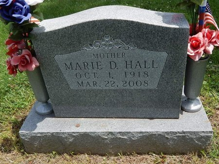 HALL, MARIE D - Greene County, Missouri | MARIE D HALL - Missouri Gravestone Photos
