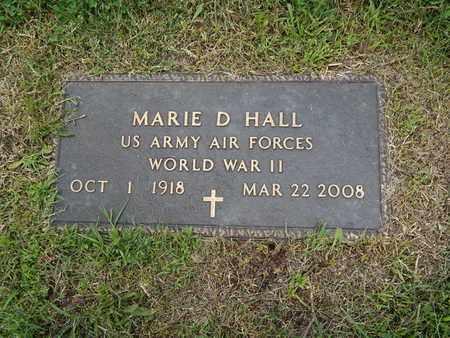HALL, MARIE D VETERAN WWII - Greene County, Missouri   MARIE D VETERAN WWII HALL - Missouri Gravestone Photos