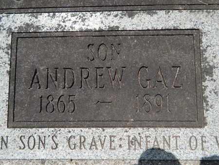 JONES, ANDREW GAZ (CLOSE-UP) - Greene County, Missouri   ANDREW GAZ (CLOSE-UP) JONES - Missouri Gravestone Photos