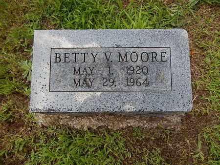 MOORE, BETTY V - Greene County, Missouri   BETTY V MOORE - Missouri Gravestone Photos