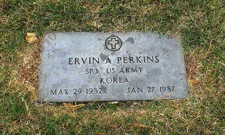 PERKINS, ERVIN A  VETERAN KOREA - Greene County, Missouri | ERVIN A  VETERAN KOREA PERKINS - Missouri Gravestone Photos