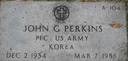 PERKINS, JOHN G - Greene County, Missouri   JOHN G PERKINS - Missouri Gravestone Photos
