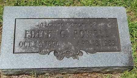 POWELL, EDITH G - Greene County, Missouri | EDITH G POWELL - Missouri Gravestone Photos