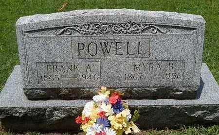 POWELL, FRANK A - Greene County, Missouri | FRANK A POWELL - Missouri Gravestone Photos