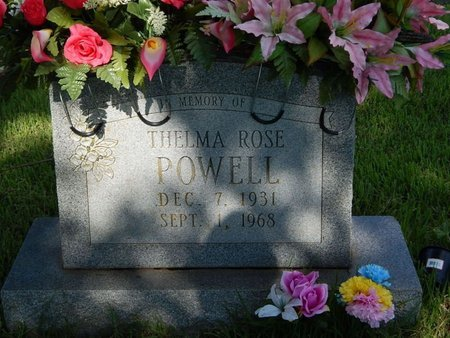 POWELL, THELMA ROSE - Greene County, Missouri | THELMA ROSE POWELL - Missouri Gravestone Photos