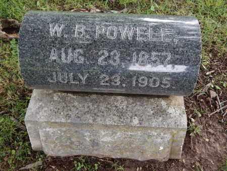 POWELL, W B - Greene County, Missouri   W B POWELL - Missouri Gravestone Photos