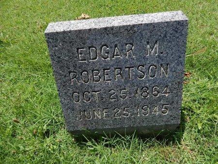 ROBERTSON, EDGAR M - Greene County, Missouri   EDGAR M ROBERTSON - Missouri Gravestone Photos