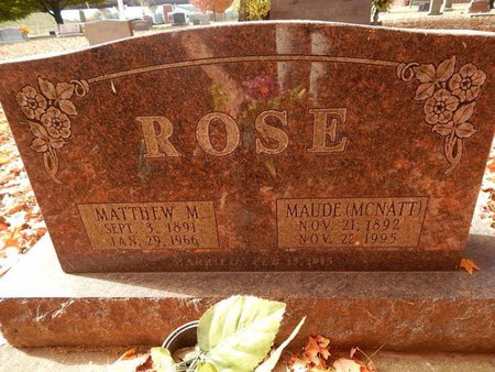 ROSE, MAUDE - Greene County, Missouri | MAUDE ROSE - Missouri Gravestone Photos