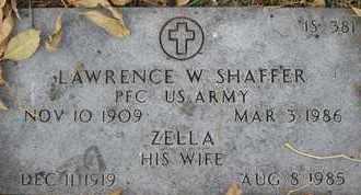 SHAFFER, ZELLA - Greene County, Missouri | ZELLA SHAFFER - Missouri Gravestone Photos