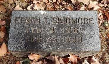 SKIDMORE, EDWIN T - Greene County, Missouri | EDWIN T SKIDMORE - Missouri Gravestone Photos