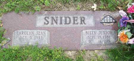 SNIDER, BILLY JUNIOR (VETERAN 2 WARS) - Greene County, Missouri | BILLY JUNIOR (VETERAN 2 WARS) SNIDER - Missouri Gravestone Photos