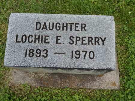 SPERRY, LOCHIE E - Greene County, Missouri | LOCHIE E SPERRY - Missouri Gravestone Photos