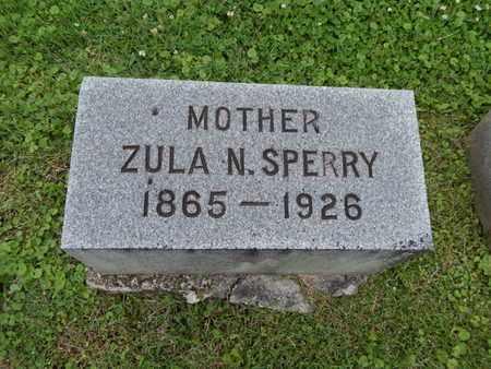 SPERRY, ZULA N - Greene County, Missouri   ZULA N SPERRY - Missouri Gravestone Photos