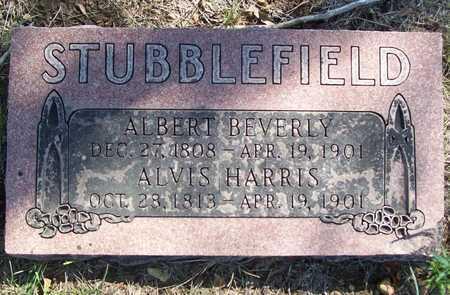 STUBBLEFIELD, ALVIS HARRIS - Greene County, Missouri   ALVIS HARRIS STUBBLEFIELD - Missouri Gravestone Photos
