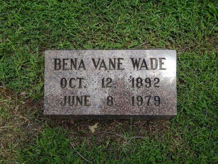 WADE, BENA VANE - Greene County, Missouri | BENA VANE WADE - Missouri Gravestone Photos