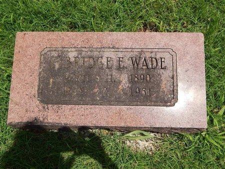 WADE, ELBRIDGE E - Greene County, Missouri | ELBRIDGE E WADE - Missouri Gravestone Photos