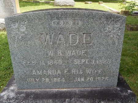 WADE, AMANDA E - Greene County, Missouri | AMANDA E WADE - Missouri Gravestone Photos