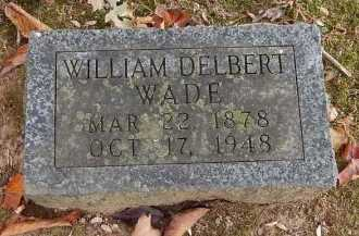 WADE, WILLIAM DELBERT - Greene County, Missouri   WILLIAM DELBERT WADE - Missouri Gravestone Photos