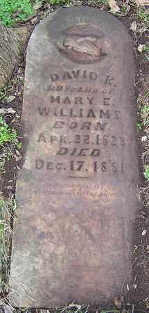 WILLIAMS, DAVID K. - Greene County, Missouri | DAVID K. WILLIAMS - Missouri Gravestone Photos