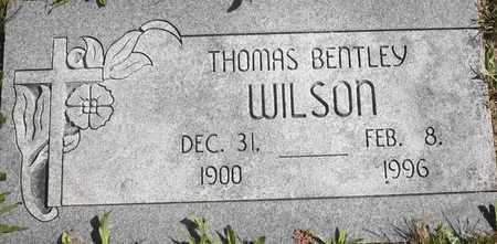 WILSON, THOMAS BENTLEY - Greene County, Missouri | THOMAS BENTLEY WILSON - Missouri Gravestone Photos