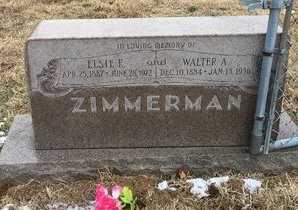 SNEED ZIMMERMAN, ELSIE E. - Greene County, Missouri   ELSIE E. SNEED ZIMMERMAN - Missouri Gravestone Photos