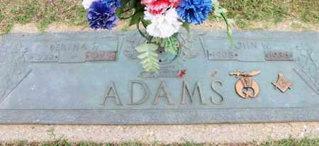 ADAMS, JOHN WILLIAM, SR. - Howell County, Missouri   JOHN WILLIAM, SR. ADAMS - Missouri Gravestone Photos