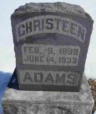 ADAMS, CHRISTEEN - Howell County, Missouri | CHRISTEEN ADAMS - Missouri Gravestone Photos