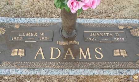 ADAMS, ELMER WILSON - Howell County, Missouri | ELMER WILSON ADAMS - Missouri Gravestone Photos
