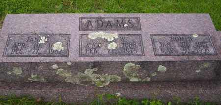 ADAMS, HOMER - Howell County, Missouri | HOMER ADAMS - Missouri Gravestone Photos