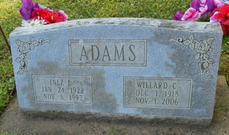 ADAMS, WILLARD CHARLES - Howell County, Missouri | WILLARD CHARLES ADAMS - Missouri Gravestone Photos