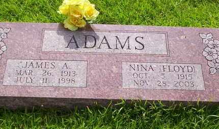 ADAMS, JAMES A - Howell County, Missouri | JAMES A ADAMS - Missouri Gravestone Photos