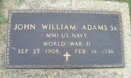 ADAMS, JOHN WILLIAM, SR. VETERAN WWII - Howell County, Missouri | JOHN WILLIAM, SR. VETERAN WWII ADAMS - Missouri Gravestone Photos